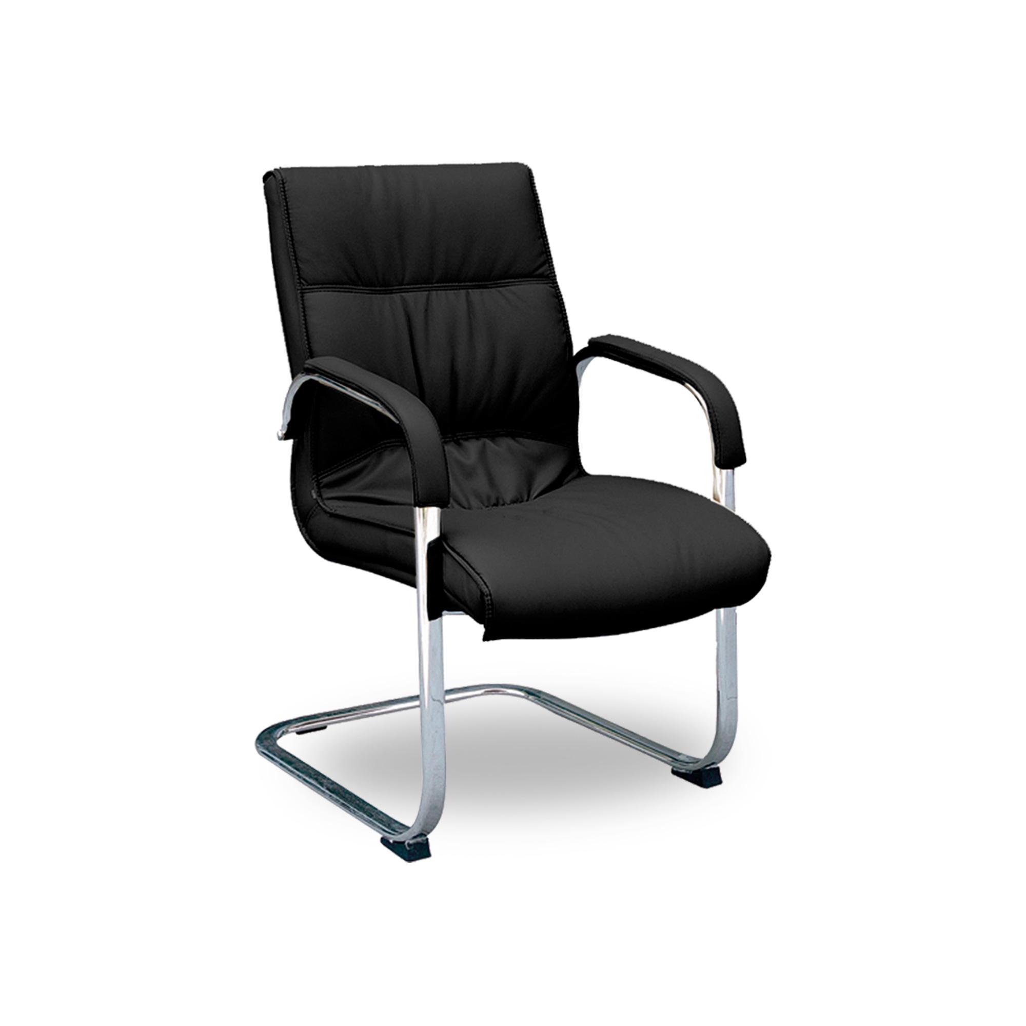 Cadeira Fixa Sky em Couro Ecológico – REF 0939 – Preta